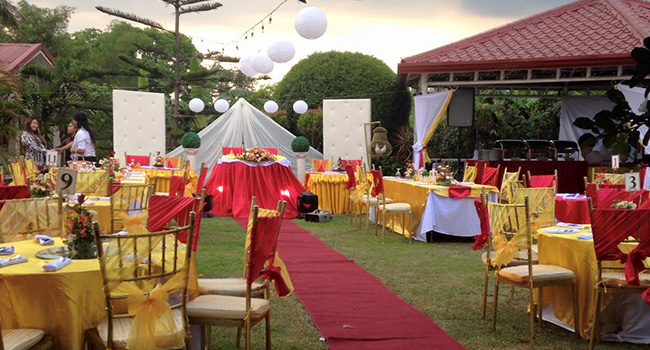 Reception at Tess Garden Tagaytay